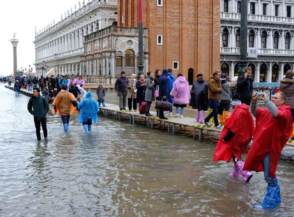 Markusplatz bei Hochwasser