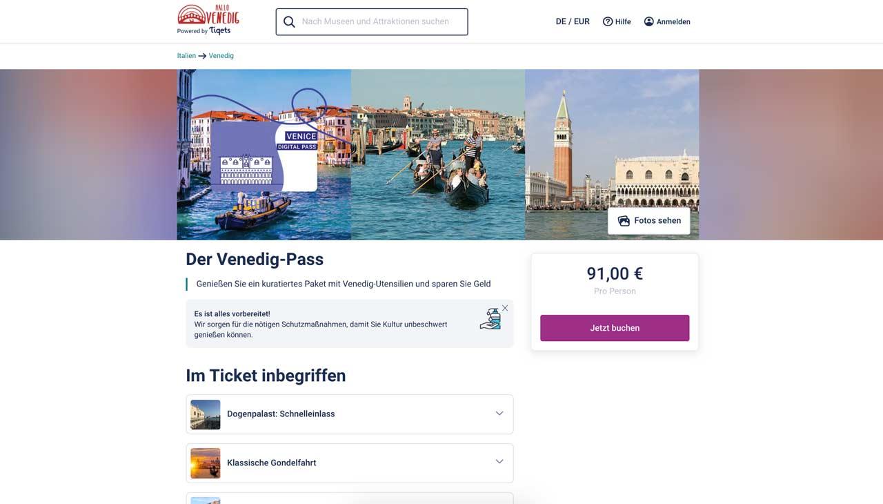 Wie verwendet man den Venedig Pass
